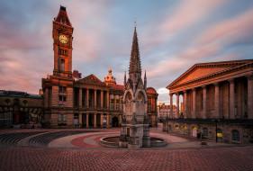 birmingham - big brum, города, - улицы,  площади,  набережные, площадь, шпиль, башня, дворец
