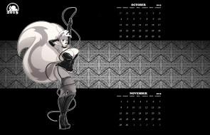 календари, рисованные,  векторная графика, фон, взгляд, девушка