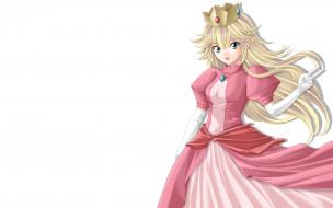 обои для рабочего стола 1920x1200 аниме, unknown,  другое, девушка, принцесса, арт, платье, корона, tamamon, super, mario, princess, peach