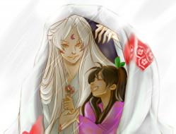разное, арты, арт, романтика, рин, аниме, инуяша, сешимару