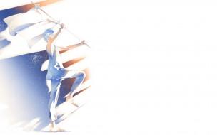 обои для рабочего стола 1920x1200 аниме, unknown,  другое, тени, флаг, идет, парень, re, art