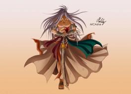 аниме, inuyasha, мужчина, арт, меч