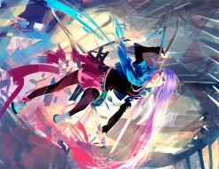 обои для рабочего стола 2770x2140 аниме, оружие,  техника,  технологии, арт, девушка, абстракция, меч