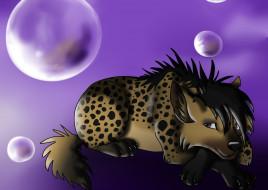 рисованное, животные,  собаки, взгляд, собака, пузыри, друг