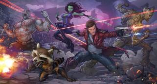рисованное, комиксы, стражи, галактики, персонажи