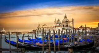 корабли, лодки,  шлюпки, канал, пристань, гондолы