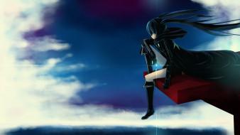аниме, black rock shooter, девушка, арт, kuroi, mato, black, rock, shooter