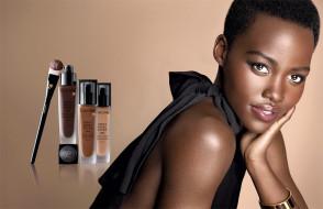lancome, бренды, косметика, бренд, портрет, лицо, темнокожая, модель, девушка