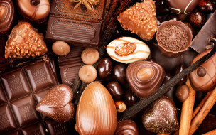 еда, конфеты,  шоколад,  сладости, sweets, candy, chocolate, шоколад, сладкое, орехи
