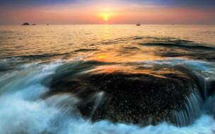 обои для рабочего стола 1920x1200 природа, восходы, закаты, пейзаж, закат, море