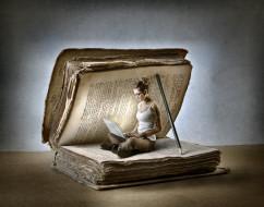 юмор и приколы, женщина, книга
