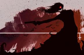 аниме, hellsing, алукард, вампир
