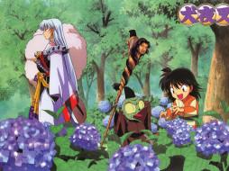 аниме, inuyasha, цветы, рин, посох, джакен, сешимару, инуяша, скан, манга
