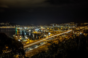 wellington,  new zealand, города, веллингтон , новая зеландия, огни, ночь