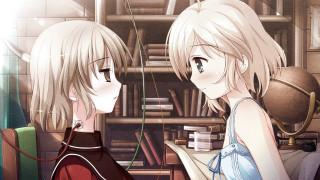 garden, аниме, simon, misumi, фон, книги, взгляд, девушки