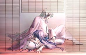 аниме, inuyasha, девушка, сешимару, пара, арт