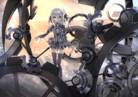арт, девочка, aoi-kao-lsz7106, шестирёнки, механизм