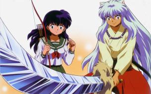 аниме, inuyasha, кагоме, меч, тессайга, инуяша