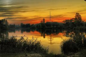 обои для рабочего стола 2048x1356 природа, восходы, закаты, река, лес