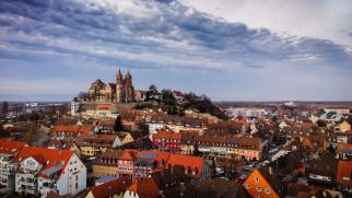 breisach, города, - панорамы, замок, холм, городок