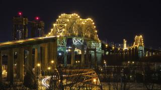города, - мосты, огни, мост, ночь
