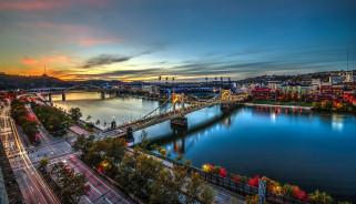 pittsburgh, города, питтсбург , сша, мосты, река